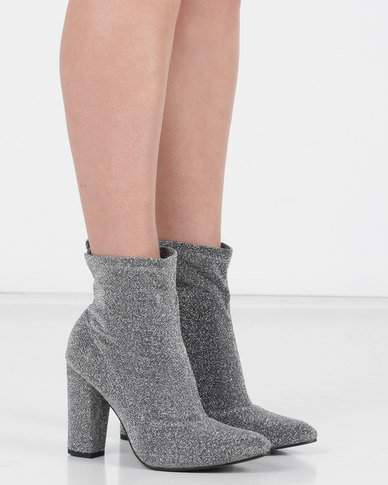 Utopia Shimmer Stretch Boot Silver