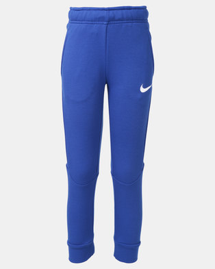 buy popular 0bcb1 b8ef6 Nike B NK DRY Taper Pants Fleece Blue