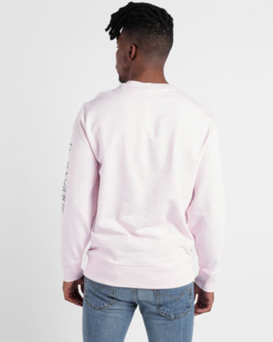 Graphic Crew Sweatshirt Pink