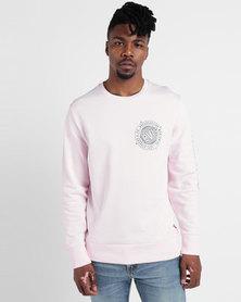 Graphic Crew Sweatshirt Pink