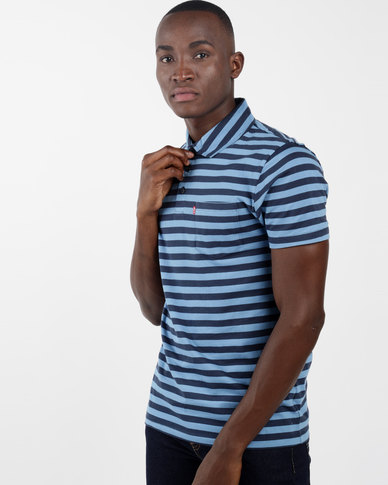 Sunset Polo Shirt Blue