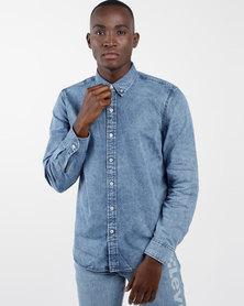 Classic No Pocket Shirt Blue