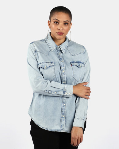 Western Shirt Blue