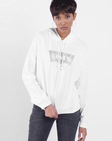 Graphic Track Hoodie White