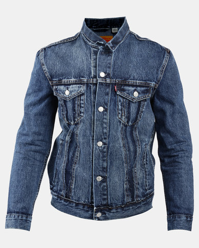 Inside Out Trucker Jacket Blue