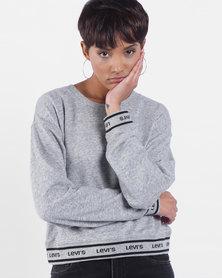 Logo Trim Sweatshirt Grey