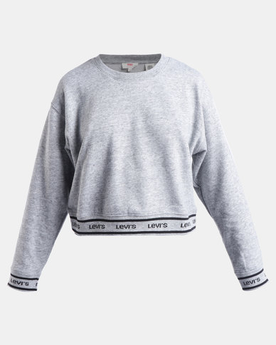 Logo Trim Sweatshirt Grey