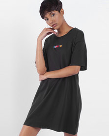 Logo Tee Dress Black