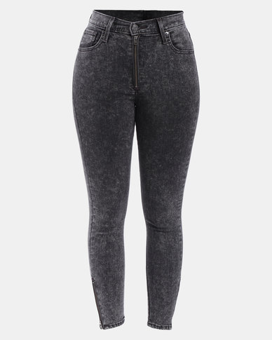 Moto Mile High Ankle Jeans Black