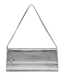 Picard Auguri Leather Evening Clutch Handbag Silver