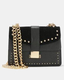 Legit Stud Trim Satchel Bag Gold/Black