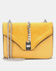 Legit Trim Satchel Bag Silver/Mustard