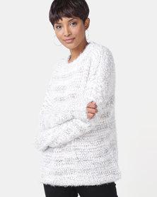 Legit Longer Length Fluffy Pullover Natural