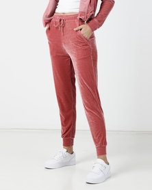 Legit Velour Jogger Dark Blush