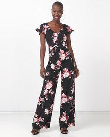 Legit Flounce Sleeve Floral Jumpsuit Multi