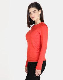 Queenspark Ottoman Core Knitwear Jersey Orange