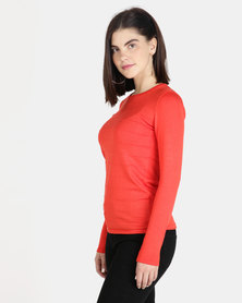 Queenspark Ottoman Core Knitwear Jersey Orange