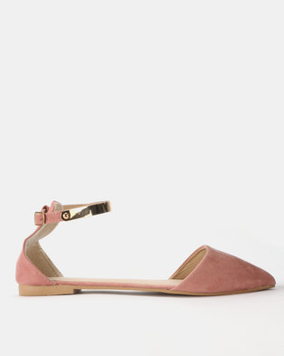 66e749a7f0a Legit Pointy with Metal Detail on Ankle Strap Blush