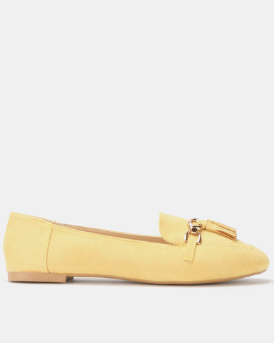Legit Loafer with Chain and Tassel Detail Mustard