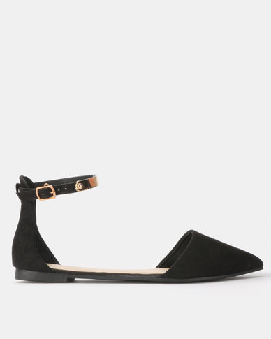 Legit Pointy with Metal Detail on Ankle Strap Black