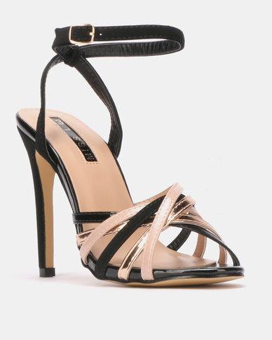 Legit Multi Fabric Multi Strap Heeled Sandals Multi