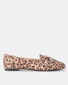 Legit Loafer with Chain and Tassel Detail Animal