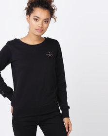 Lizzy Lina Crew Sweatshirt Black