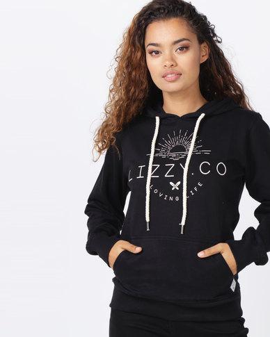 Lizzy Vicky Hooded Sweatshirt Black