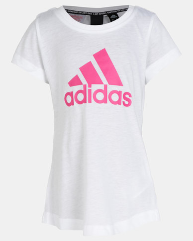 adidas Originals YG MH BOS Tee White