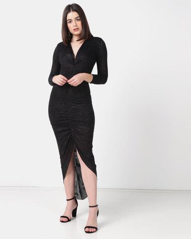 Sissy Boy Sparkle Maxi Dress Black