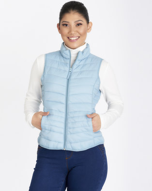 Contempo Puffer Gillet Blue