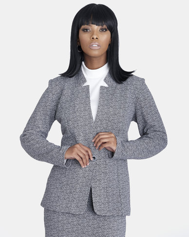 Contempo Printed Jacket Grey