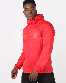 The North Face Drew Peak Windwall Jacket Red