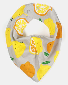 Kapas Dribble Bib Lemons Yellow