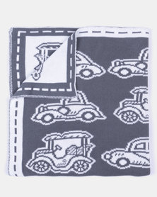 Kapas Car Blanket Charcoal
