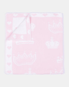 Kapas Crown Blanket Pink