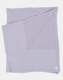 Kapas Cellular Baby Blanket Grey