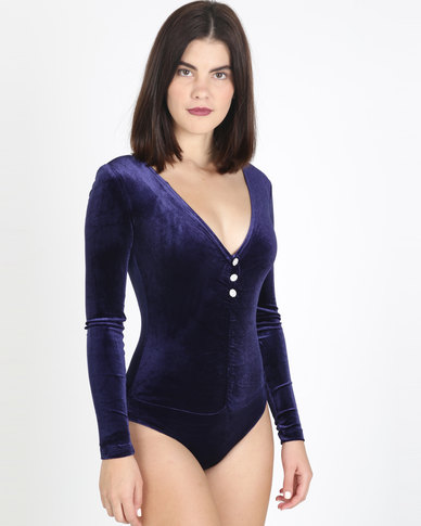 Sissy Boy Deep V Bodysuit Navy