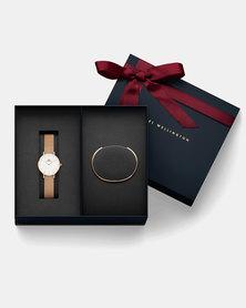 Daniel Wellington Women's Classic Petite Melrose Analog Watch With Classic Bracelet Rose Gold - Small DW00500007