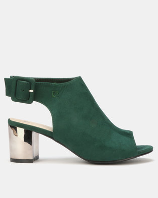 379c69edeb8e Pierre Cardin High Vamp Slingback Heels Green