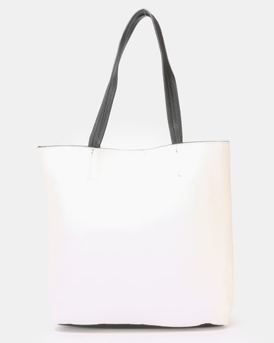 Blackcherry Bag Minimalist Tote Bag China White / Black trim