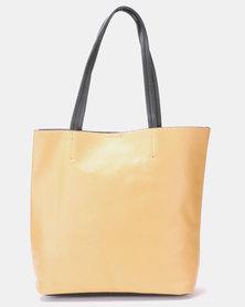 Blackcherry Bag Minimalist Tote Bag Camel / Black trim