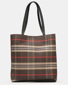 Blackcherry Bag Minimalist Tote Bag Brown
