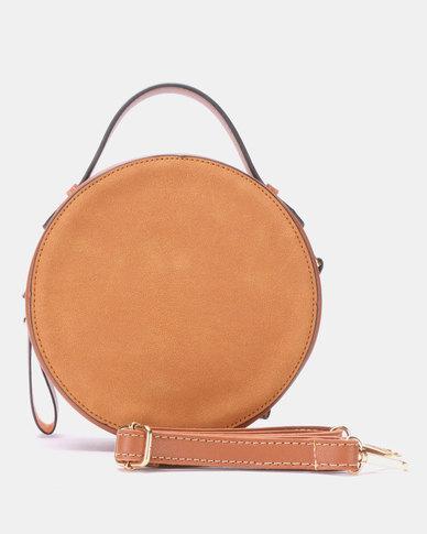 Blackcherry Bag Round Crossbody Bag Tan
