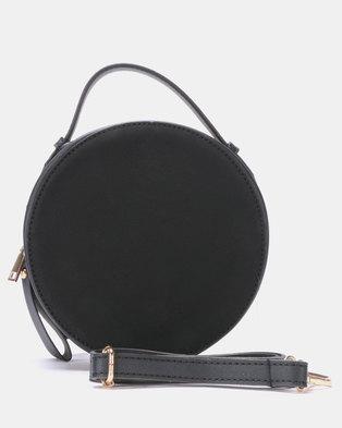 Blackcherry Bag Round Crossbody Bag Black
