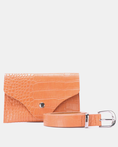 Blackcherry Bag Faux Croc Belt Bag Savanah