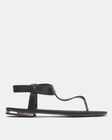 Model Me by Jada Sling Back Sandals Black