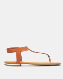 Model Me by Jada Sling Back Sandals Tan