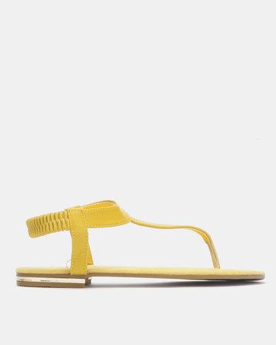 Model Me by Jada Sling Back Sandals Mustard