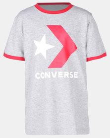 Converse Pixel Chuck Tee Grey